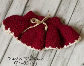 CROCHET PATTERN - baby skirt pattern, crochet skirt pattern, photo prop patterns, baby girl outfit, baby girl clothes, skirt patterns