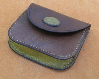 Cute Coin Purse Hand-Stitched Veg Tanned Leather