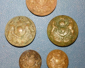 Old military buttons of the Entente WWI