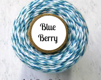 Dark Blue, Light Blue, & White Bakers Twine by Trendy Twine - Blue Berry - 160 Yds