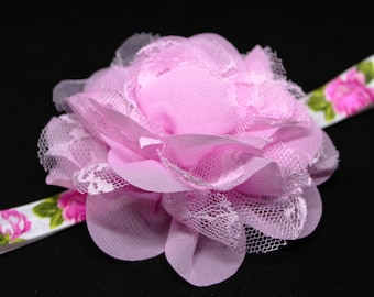 Light Pink Chiffon Flower
