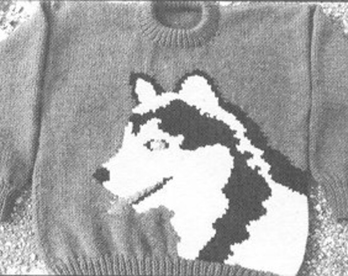eweCanknit Pattern 082 083, 084: The Husky  knitting pattern kids, youth and adult sizes