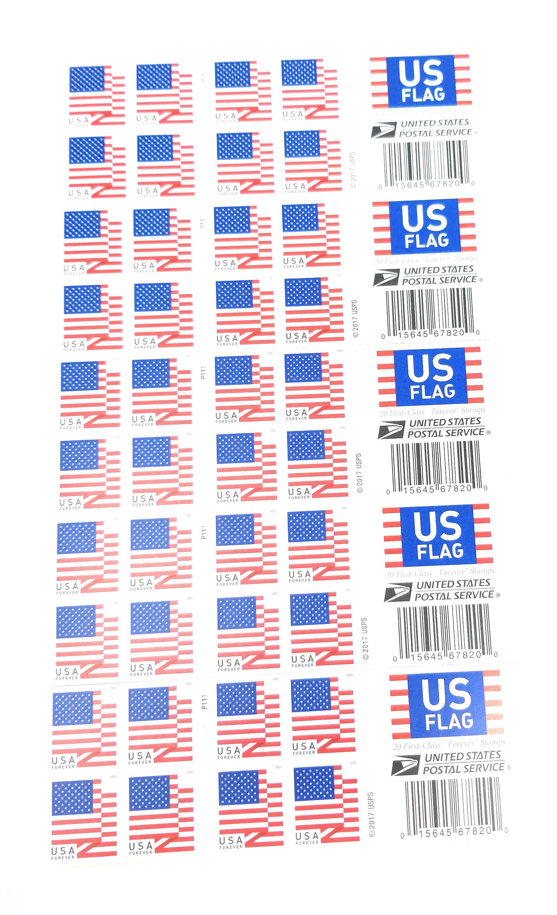 100 Forever First-Class Postage Stamps by USPS Post Office