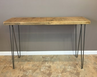 Urban Wood Console Table, Hairpin Legs, Modern, Rustic, Wood Table, Reclaimed Wood Furniture And FREE SHIPPING!!!