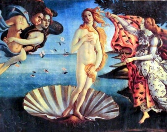 The birth of Venus by Sandro Botticelli 1485 High Renaissance