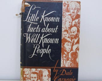 S A L E SIGNED first edition - Dale Carnegie - Little Known Facts About Well Known People (1934)