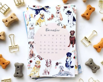 2018 Desk Calendar + Frame or Midori Clip - desktop calendar - Assorted Designs - trendy art watercolor
