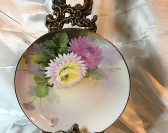 """NIPPON, Japan, Hand Painted, 7 1/2"""", Floral PLATE"""