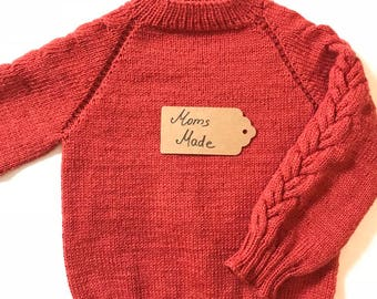 Sweater. For a 3-4 years old girl. Hand Knitted.