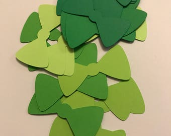Green Bow Confetti. Bow Tie. 2 in 24pcs Bowtie Die Cuts. Ready to Ship. Baby Shower. Little Man Party Decoration. Purpke Sakana