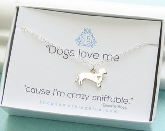 Dog Lover Gift • Dog Silhouette Necklace • Dachshund Necklace • Dog Charm • Dog Jewelry • Gift For Dog Lover • Custom Dog Necklace • Outline