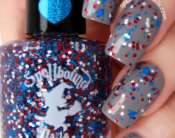 Home of the Brave - Red White Blue Glitter Topper Nail Polish