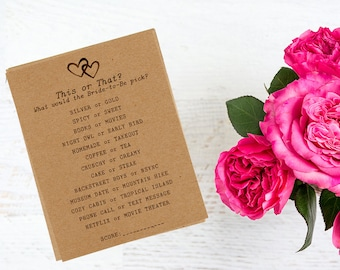 How Well Do You Know the Bride Game - Rustic Bridal Shower Game - Personalized Bridal Shower Game - Hearts Bridal Shower Theme