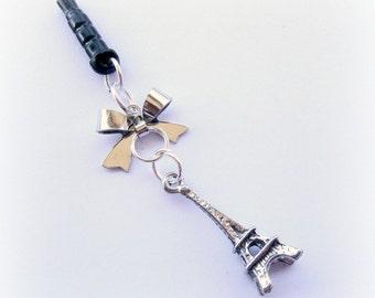 Memories of Paris Eiffel tower earphone dust plug earphone jack charm for iPhone Smartphone