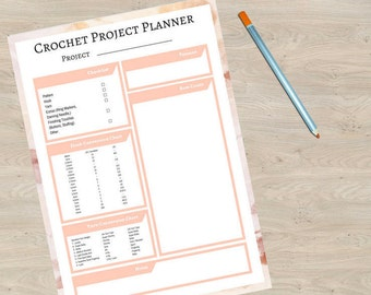 Crochet project planner digital download