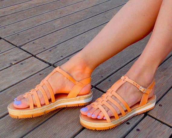 Gladiator Sandals Athens Sandals Espadrilles in ''Demetra'' Handmade Leather sandals Greek Platform 5dvPwUq