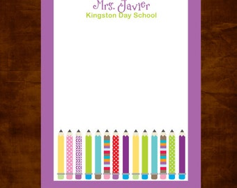 Personalized Teacher Notepad, Teacher Appreciation Gift, Teacher Gift Giving, Daycare Teacher, Personalized Teacher Gift, Pencil Notepad