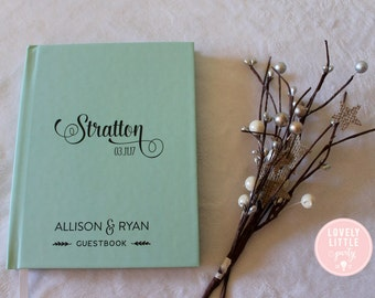 Wedding Guest Book, Wedding Guestbook, Custom Guest Book Personalized, Custom design wedding gift keepsake -Style 503