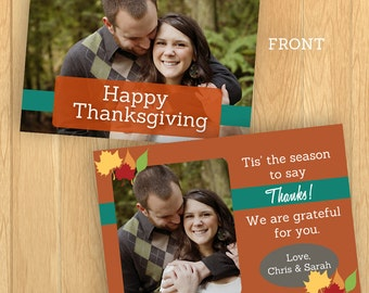 Thanksgiving Card PSD Template (Instant Download)