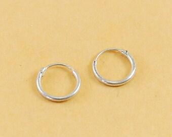 925 Sterling Silver 16mm Hoops Earrings
