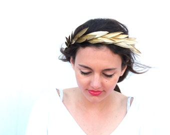 Aphrodite Gold Crown, Gold Headband, Woodland Headpiece,  Greek Goddess, Hair Wreath