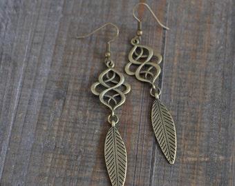 Boucles d'oreilles plumes - Bijou bohémien - Inspiration bohème - Bohemian earrings - Coco Matcha