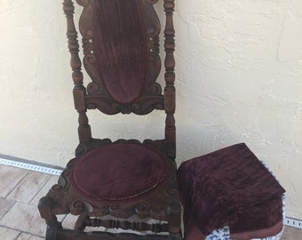 1900's Paine Furniture Jacobian Style Chair