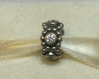 Authentic Pandora Silver Her Majesty Charm #791122CZ