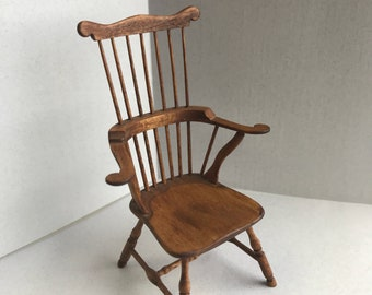 "1"" or 1/12 Scale Miniature Signed Windsor Chair"
