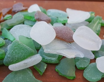 Sea glass lot for crafts and aquarium,  water tumbled glass pieces from Ireland,  105g, #SS15
