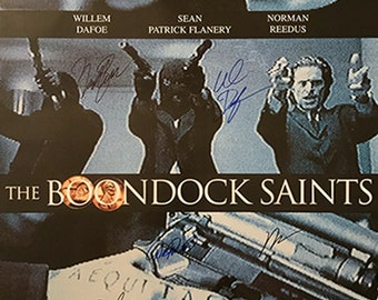 The Boondock saints signed movie poster cast