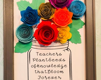 Reverse Canvas - Teachers gift