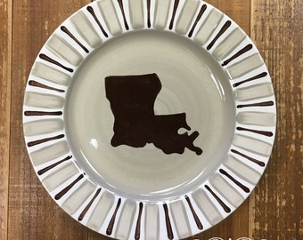 Hand painted Louisiana plate