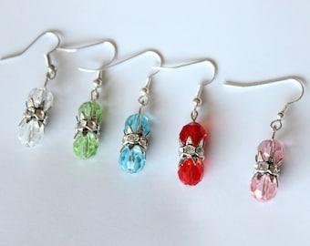2 stones earrings