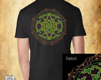 Flower of life Ancient , Mens t shirt , sacred geometry , Festival t shirt , shipibo clothes , sacred art , hippie t shirt , street wear , p