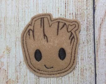 Baby Tree Hair Clips, Cute, Girl, Pretty, Barrette, Feltie, Space,