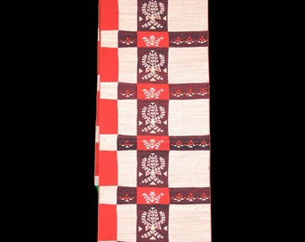 Japanese Kimono Obi / Fukuro Obi / Vintage Cotton Obi / Japanese Kimono belt / belt / obi /sash / cute / pink