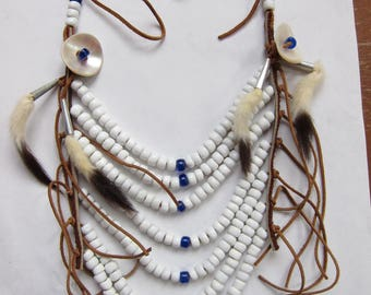 Amazing 1970s Native American Breastplate Necklace  (18)