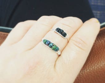 Minimalist wire ring