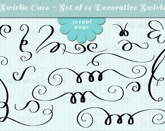 Swashes, Swashes Decorative Borders, Digital Download, Graphics, Clip Art, Instant Download, Swashes Clipart, Cliparts, Digital Scrapbooking