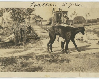 """Vintage Snapshot Photo: """" Loreen, 3 yrs."""" [84662]"""