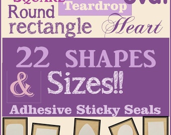 10 - Adhesive Sticky Shapes, Dry Adhesive for Glass Pendants, Alternative to Glue, Dry Adhesive Glass to Pendant Trays -2 Sided Stickers