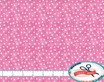 PINK POLKA DOT Fabric by the Yard, Fat Quarter Pale Pink Fabric Pink & White Fabric Quilting Fabric Apparel Fabric 100% Cotton Fabric w2-2