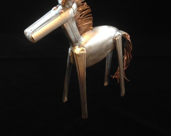 Silverware horse