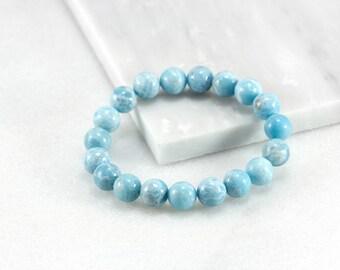 Larimar Bracelet, Calming Bracelet, Beach Jewelry Ideas, Larimar Jewelry, Pastel Blue Wedding , Aqua Beach Jewelry