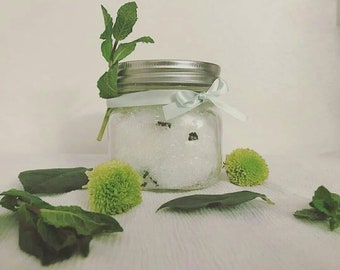 8oz Peppermint Eucalyptus Bath Salts