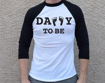 Daddy To Be Shirt . Dad 3/4 Baseball Tshirt. Dad To Be . Dad Baseball Shirt .Future Dad Shirt . Dad Est . Expecting Dad . Father Shirt