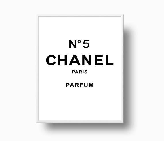 chanel no 5 print chanel logo coco chanel poster coco. Black Bedroom Furniture Sets. Home Design Ideas