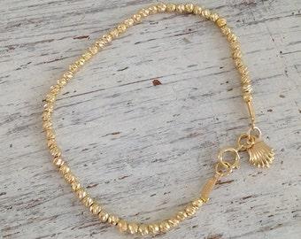 Gold filled bracelet, Beaded bracelet, gold filled bracelet,gold filled beads, everyday bracelet, classic bracelet, gift for her -4402