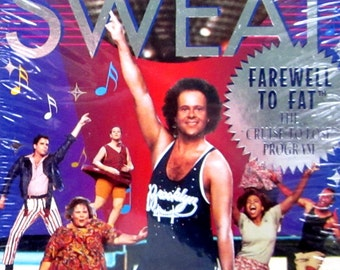 Sealed RICHARD SIMMONS Farewell To Fat DISCO Sweat Excercise Program 1994 Gay Interest vhs Video Cassette Tape